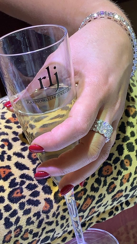 Diamond jewelry and champagne at boca raton jewellery store