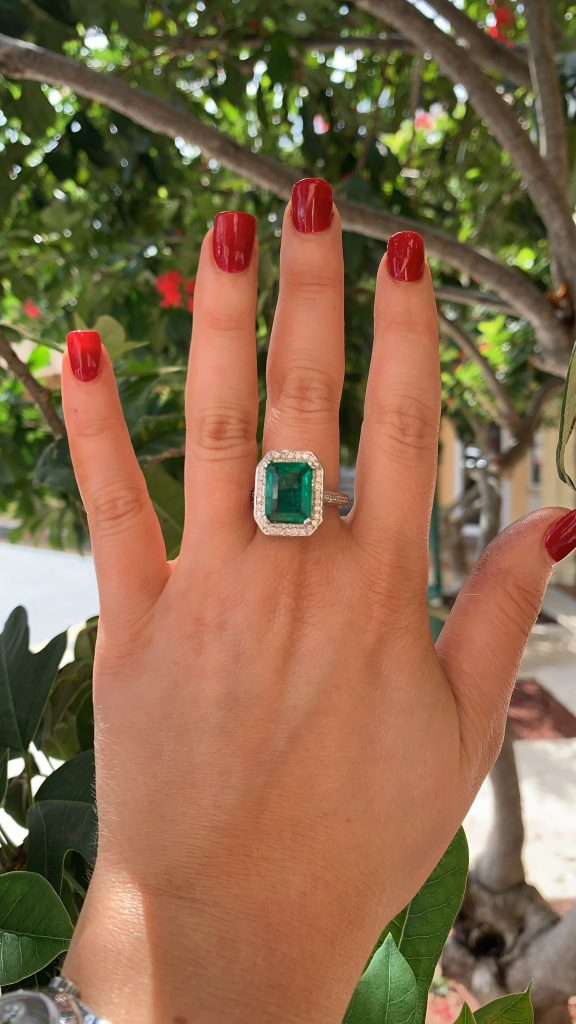 emerald engagement with halo