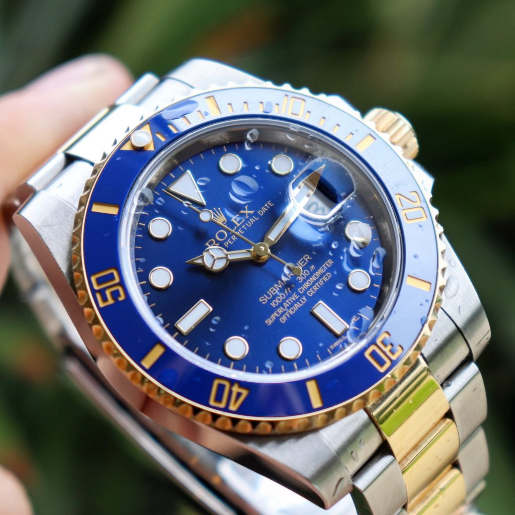 two tone rolex submariner mens watch
