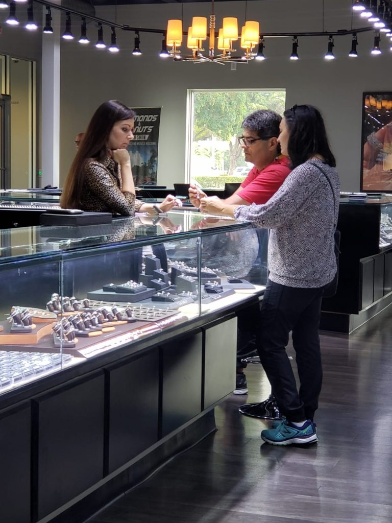 couple at a jewelry store near me