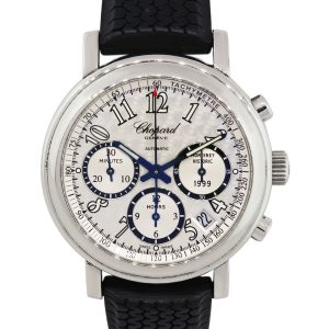 Chopard 8331 Mille Miglia Silver Chronograph Dial Rubber Strap Watch