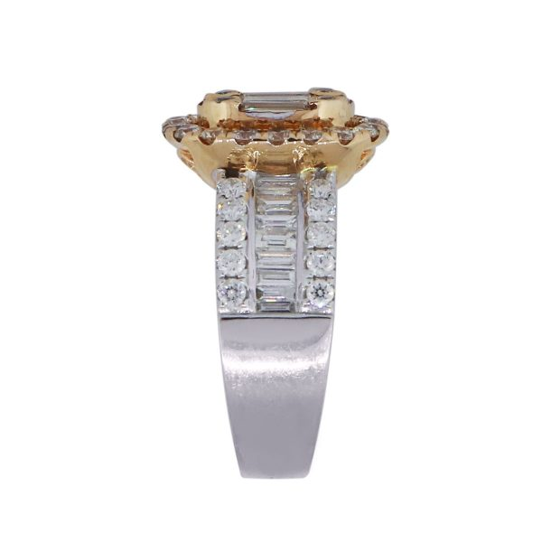 rose gold and white gold diamond ring