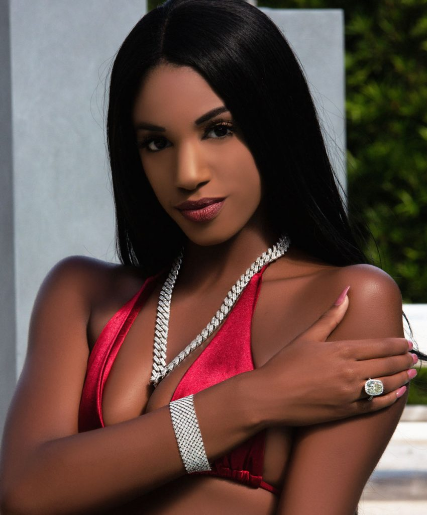 jewelry shoot with model