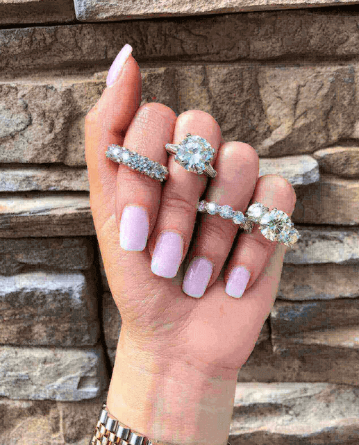 engagement rings for women diamond solitaire rings