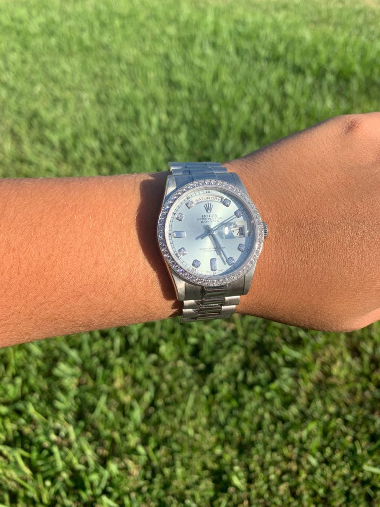 rolex day date diamond review