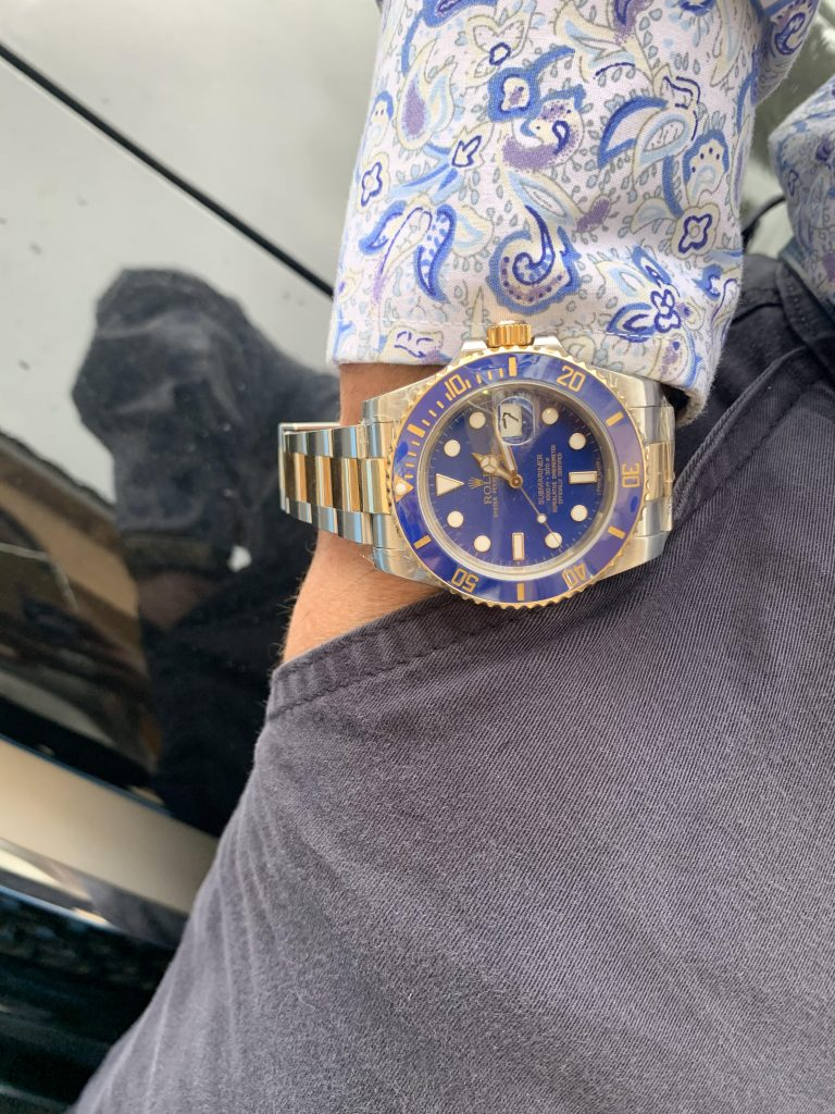 Rolex Submariner two tone blue dial and blue bezel