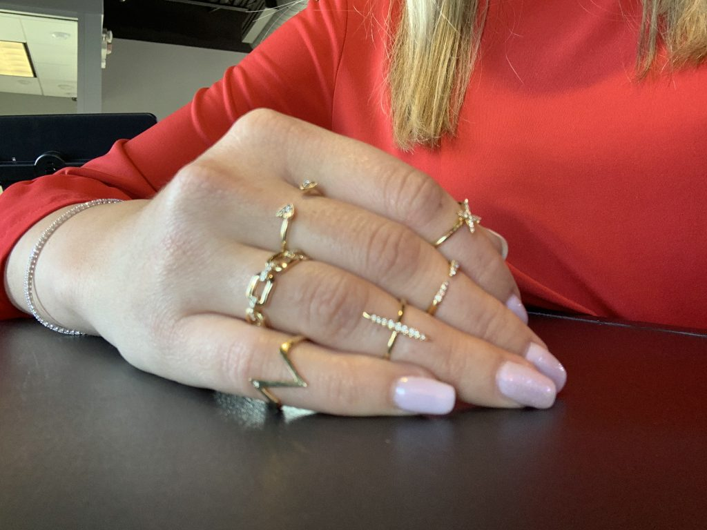 best jewelry in 2019 worn together including midi rings and yellow gold