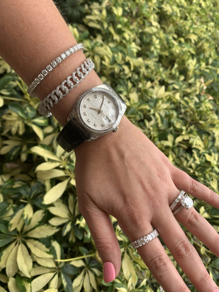 combination fine jewelry and rolex