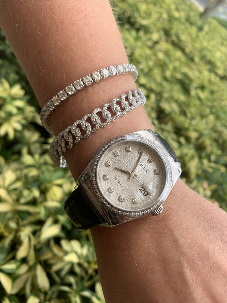 pyramid dial rolex and fine jewelry combination