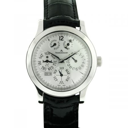 Jaeger LeCoultre Master Control Master Eight Days Antoine Perpetual Platinum Watch