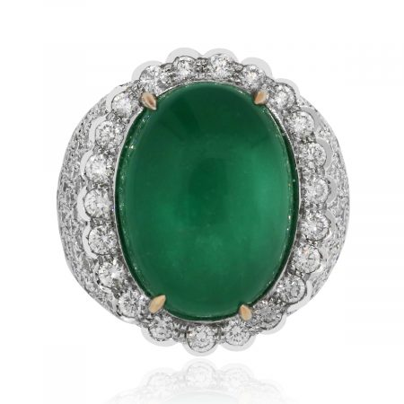 Emerald Gemstone Diamond Ring