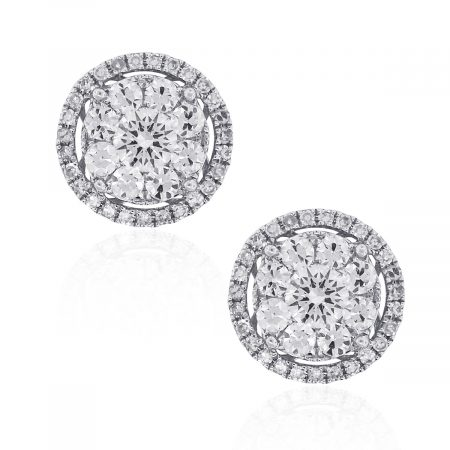Diamond Earrings Studs with Jackets