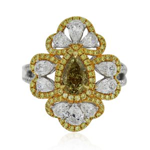Fancy Yellow Diamond Cocktail Ring