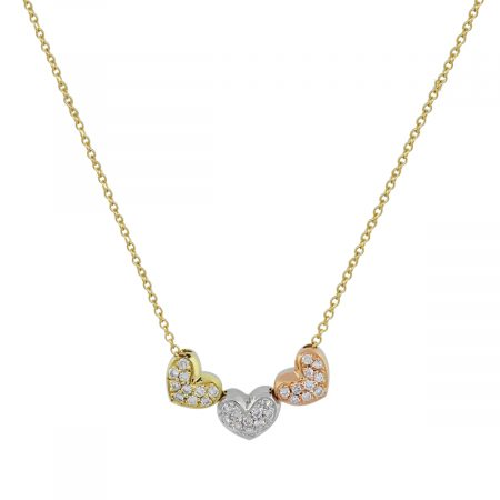 tri color gold necklace