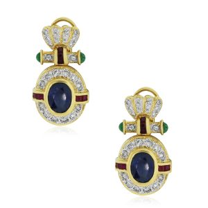 Diamond Gemstone Earrings
