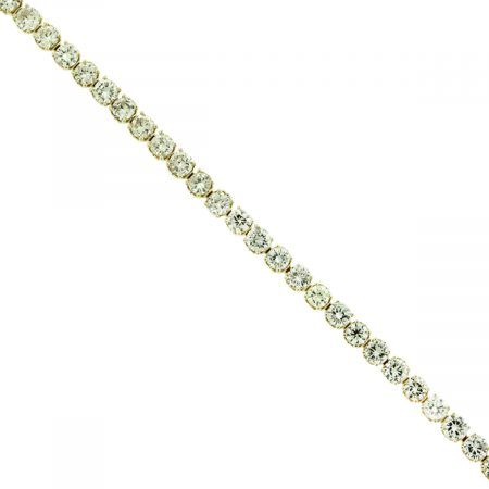 14k Yellow Gold 9.23ctw Diamond Tennis Bracelet