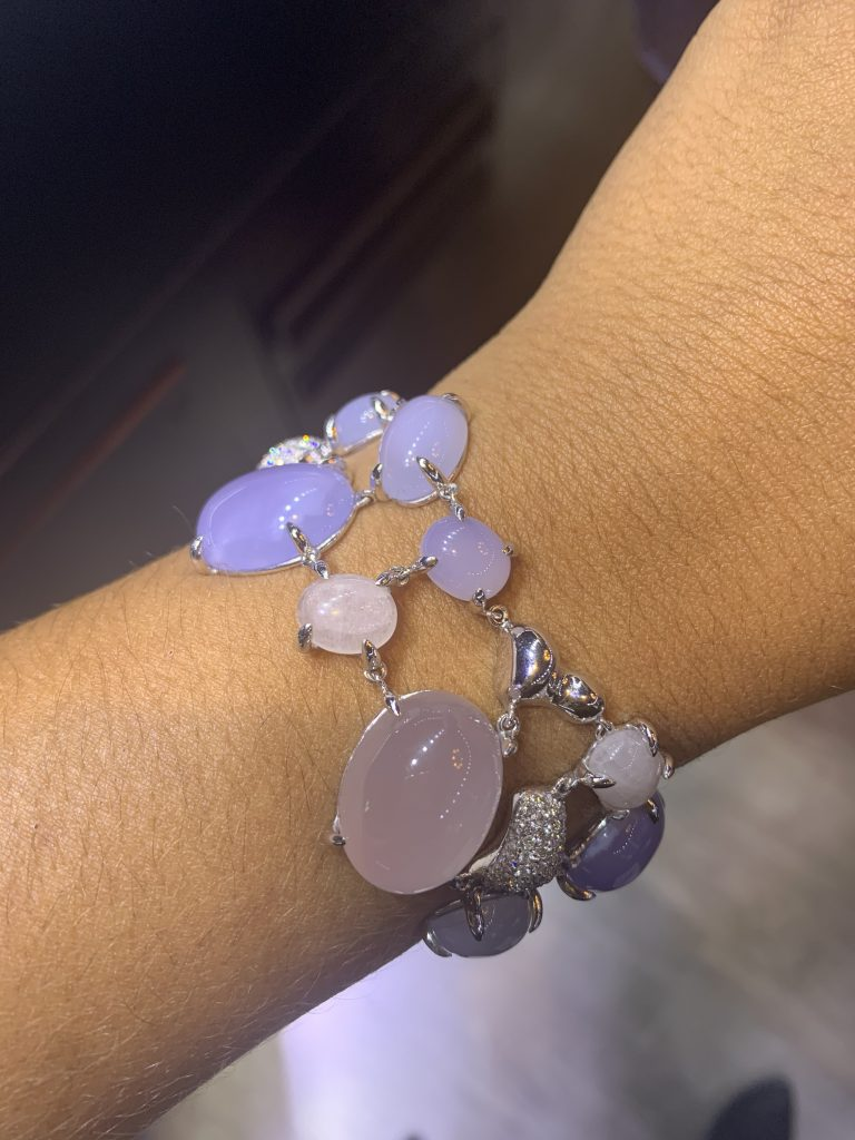 gemstone rings for women paired with bracelet