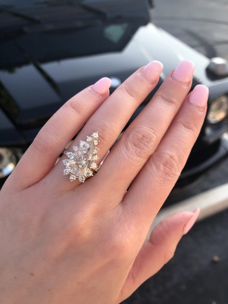 pear engagement ring questions