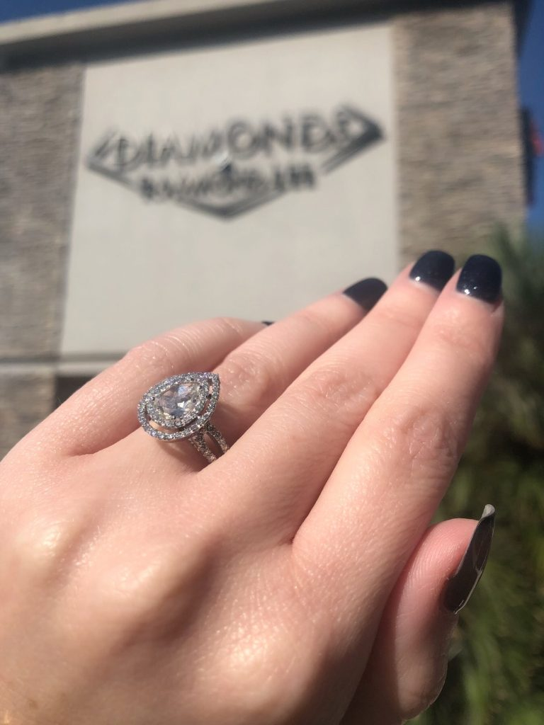 buy pear engagement ring near me
