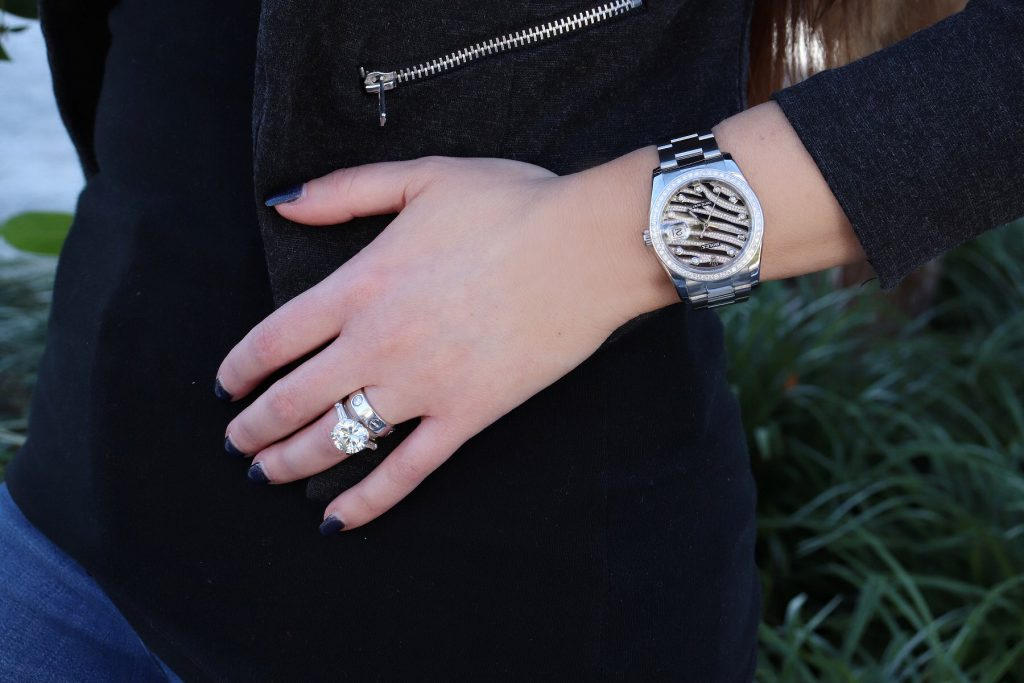 rings and rolex watches