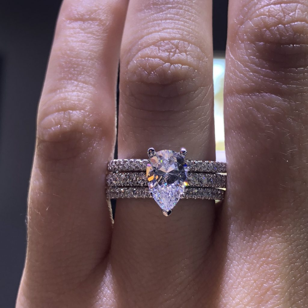 pear ring stack