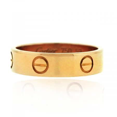 Cartier 18k Rose Gold Size 59 Love Ring