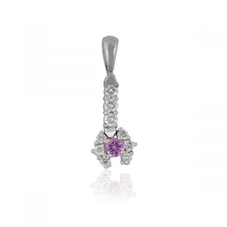 14k White Gold 0.20ctw Diamond Drop Pendant