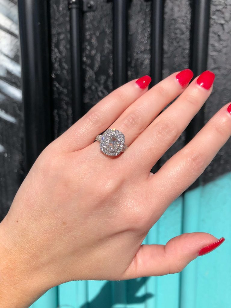 are halo engagement rings popular