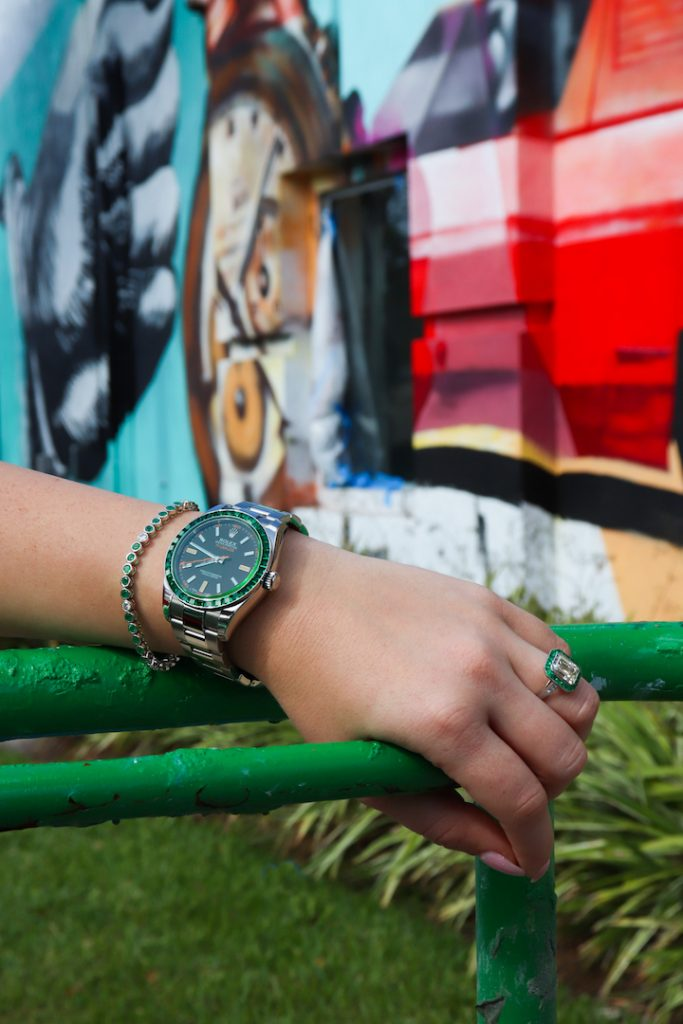 emerald jewelry and watches