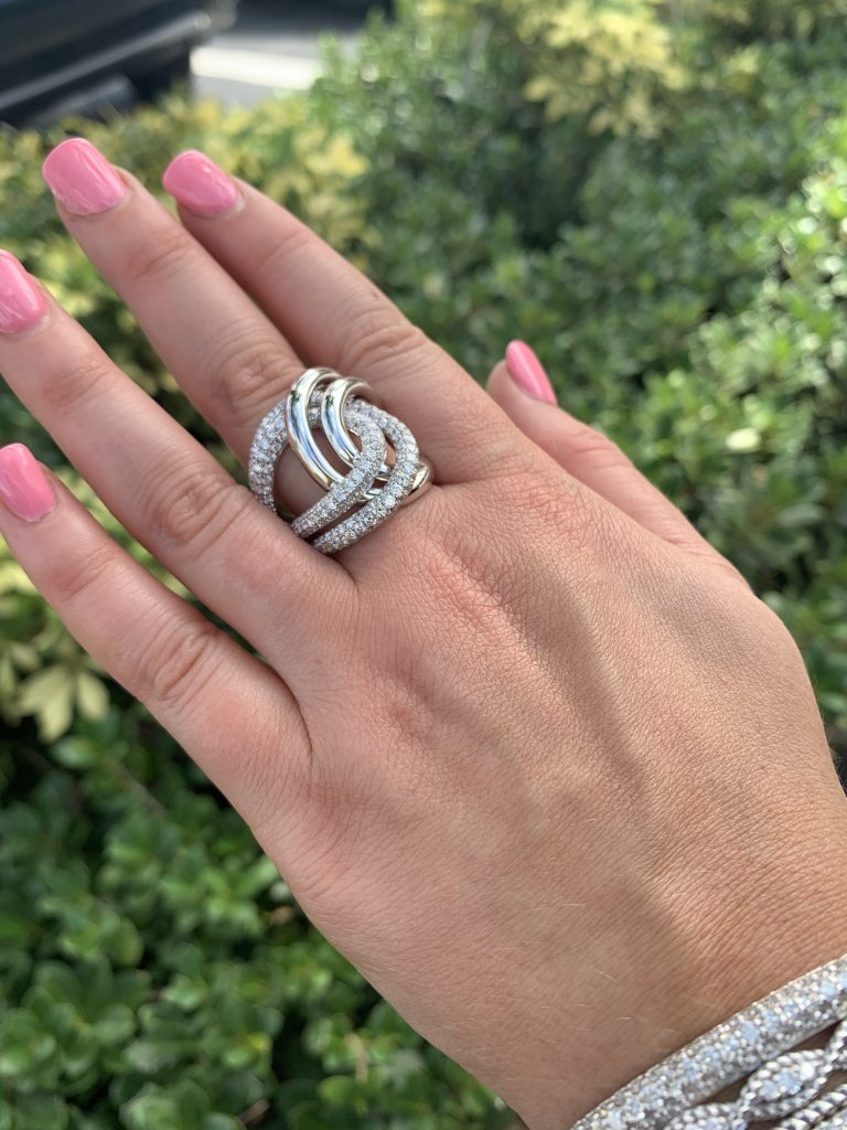 diamond ring worn in front of jewelry store and repair near me