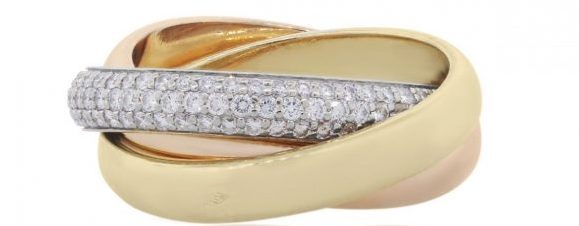 used cartier trinity ring