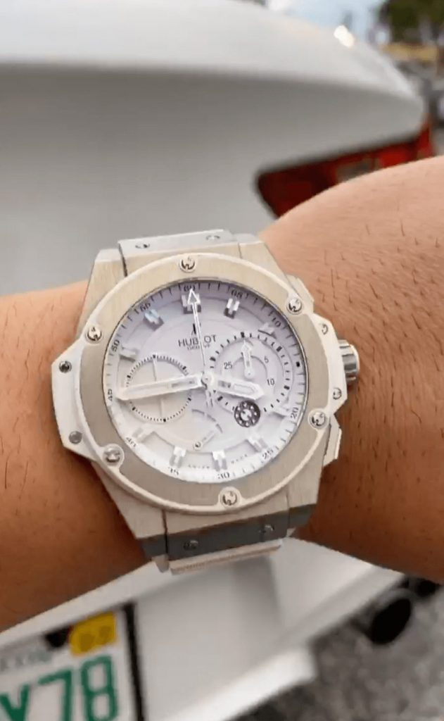 hublot king power on wrist