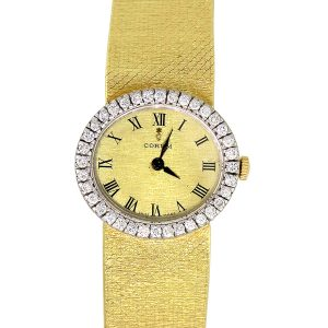 Corum 18k Yellow Gold Diamond Bezel Ladies Watch