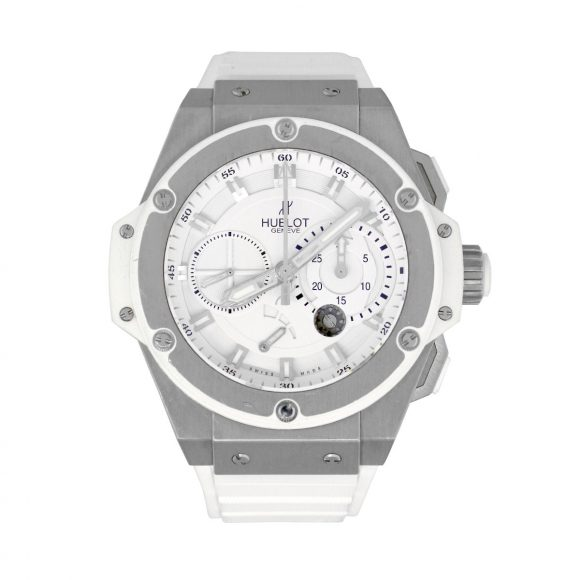 white hublot king power zirconium price