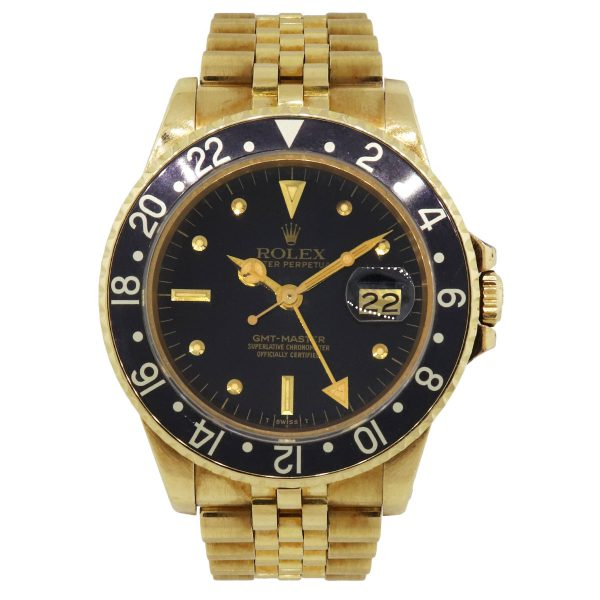 yellow gold gmt master watch