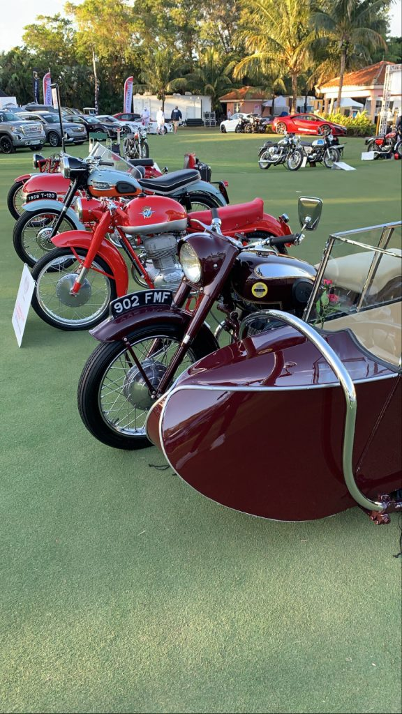motorcycles at boca concours d'elegance