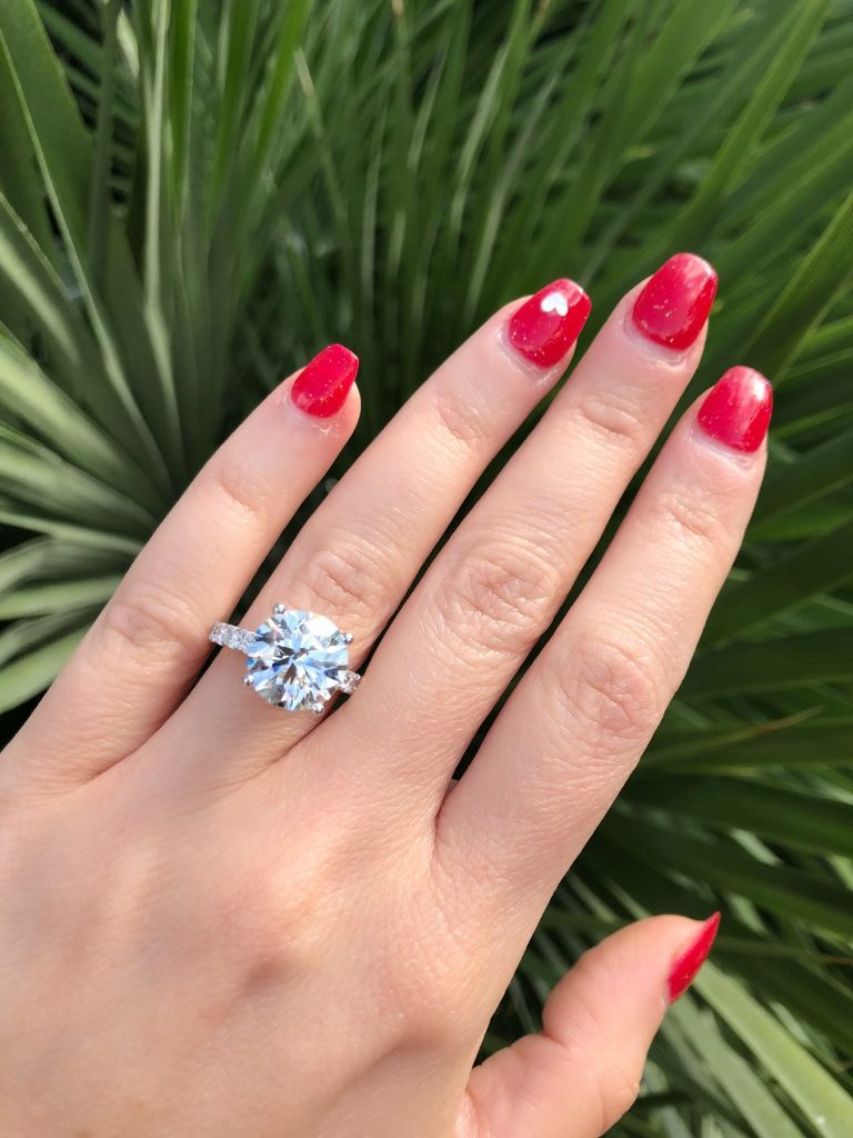 solitaire ring diamond engagement rings worn