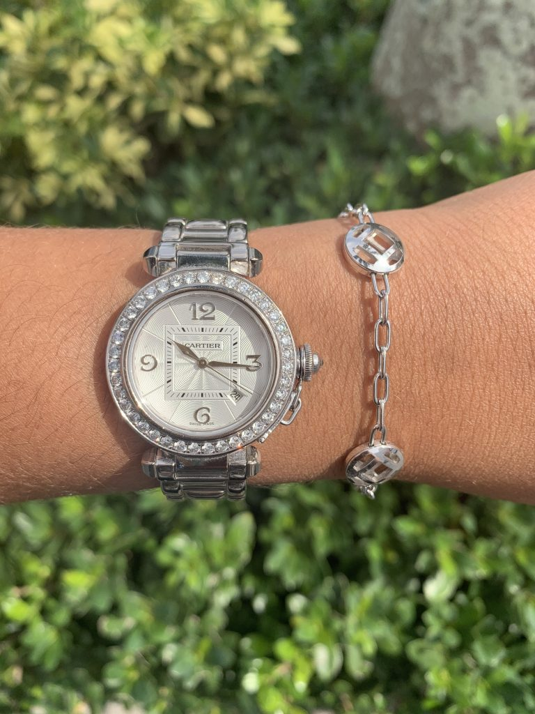 cartier pasha watch example for valentine's day jewelry