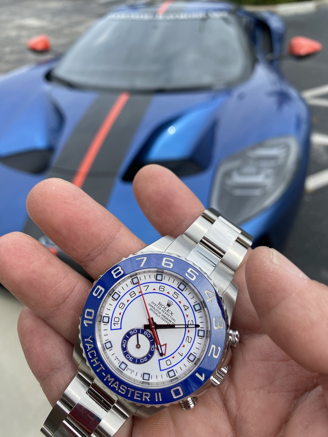 blue cars and watches