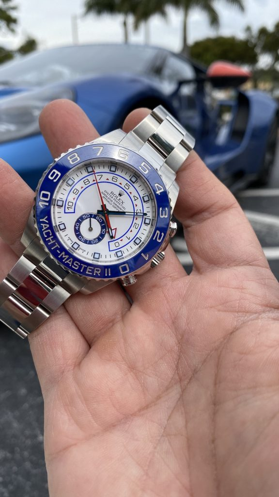 yachtmaster and racing car