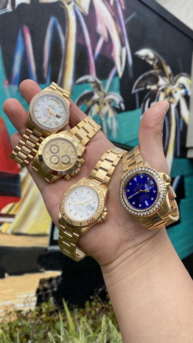 are yellow gold watches tacky