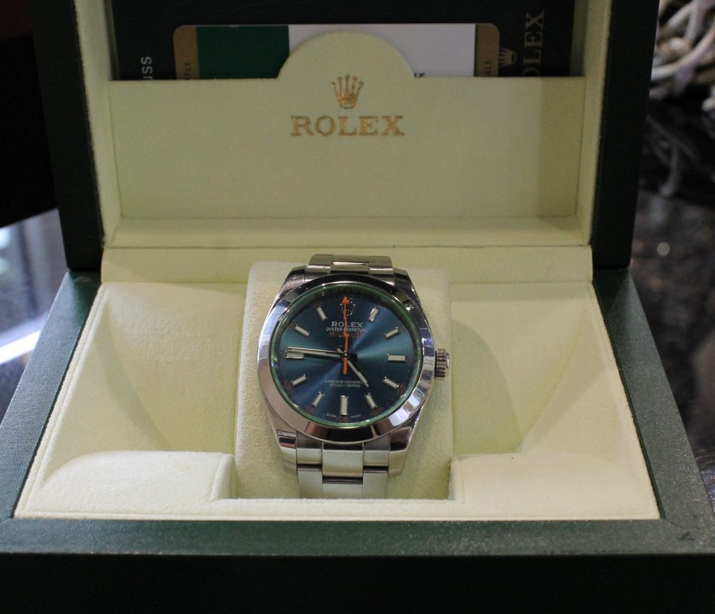 pre owned rolexes milgauss in the box