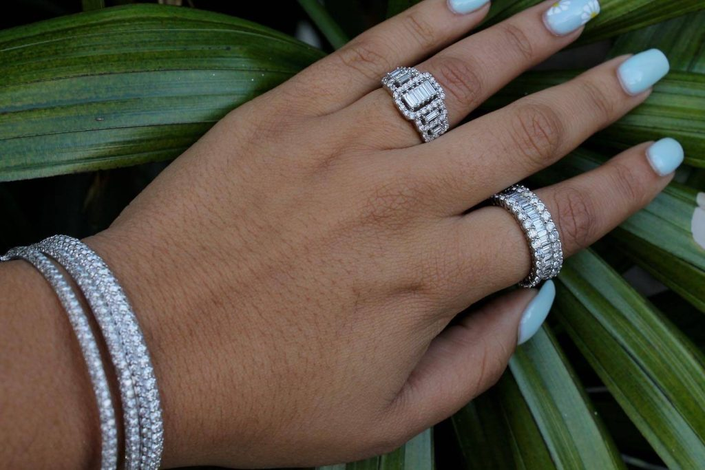 buying engagement rings and eternity ring at the same time