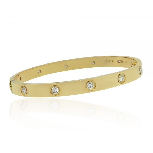 Cartier Yellow Gold Love Bangle New Style