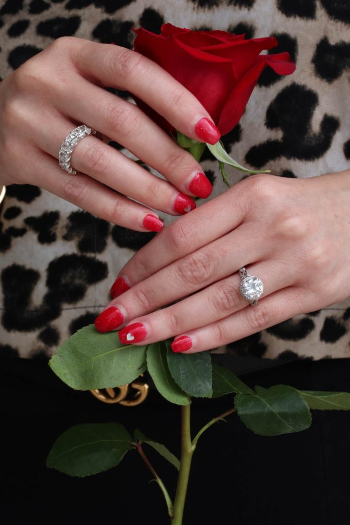 tips engagement ring and eternity ring