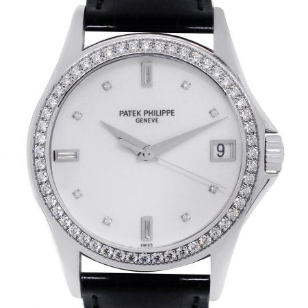 Patek Philippe Stainless Steel Diamond Dial Watch