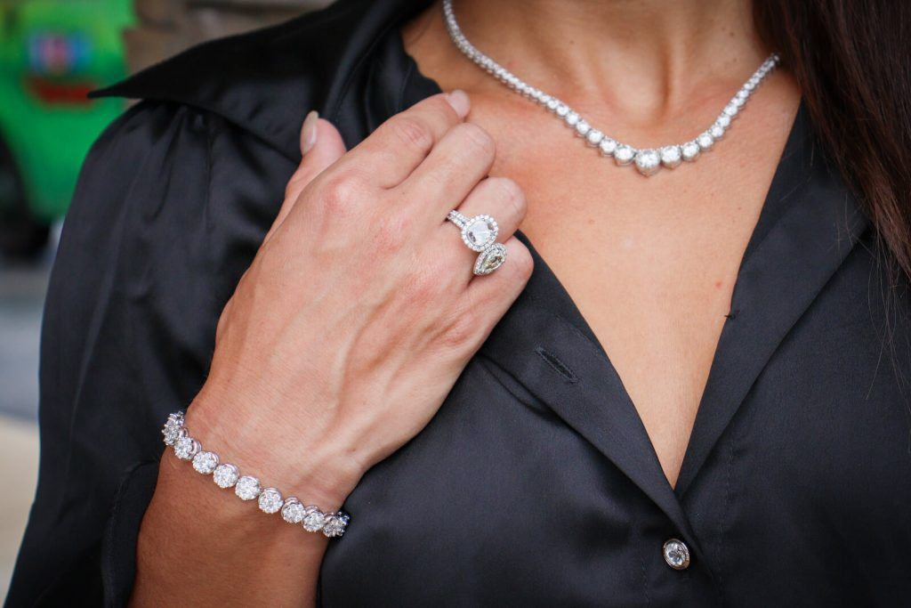 diamond eternity rings and tennis necklace