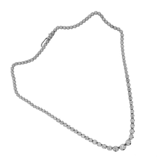 White gold diamond tennis necklace
