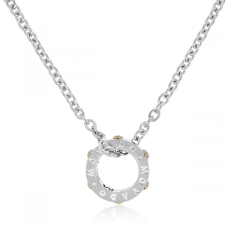 Movado two tone diamond necklace