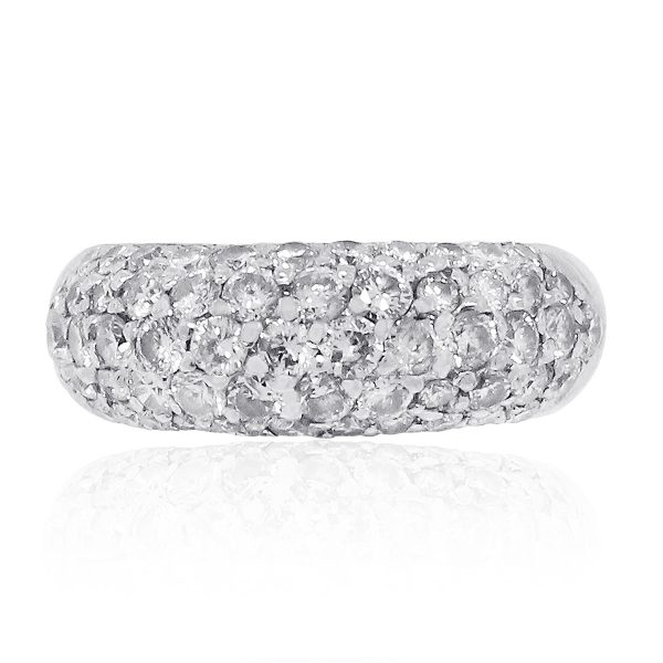 Platinum Diamond pave dome ring